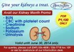 Kidney Month Promo