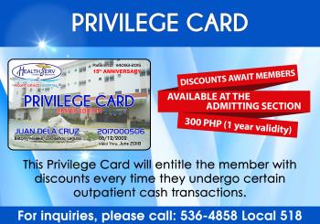 HealthServ Privilege Card