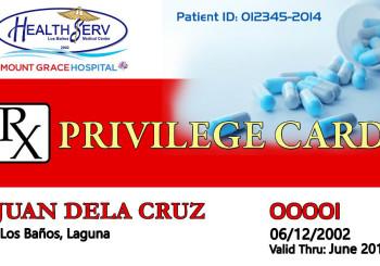 HealthServ Rx Privilege Card
