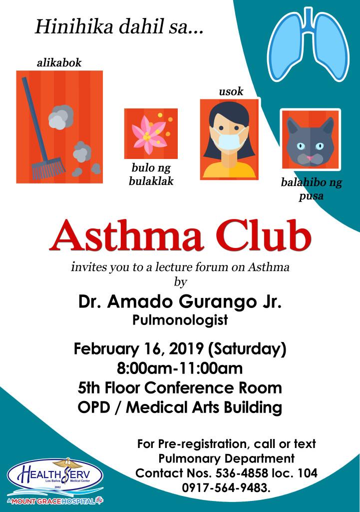 Asthma Club Feb 16 2019