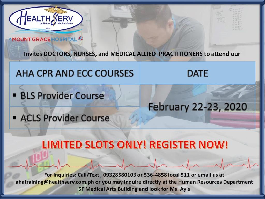 AHA CPR AND ECC COURSE