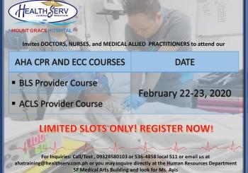 AHA CPR AND ECC COURSES